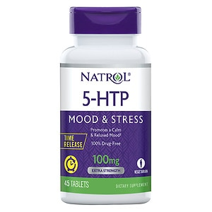 Natrol 5-HTP TR, Time Release, 100mg, Tablets