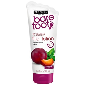 Freeman Bare Foot Softening Foot Lotion, Invigorating Peppermint & Plum