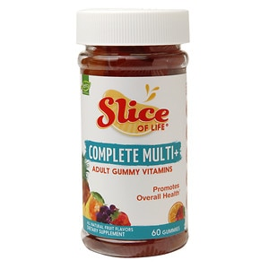 Slice of Life Complete Multi+ Gummy Vitamins for Adults, Fruit
