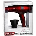 BaByliss PRO Ceramix Xtreme Professional Turbo Dryer, Red- 1 ea