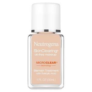 Neutrogena SkinClearing SkinClearing Oil-Free Liquid Makeup, Soft Beige