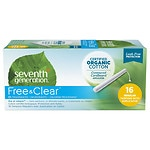 Seventh Generation Chlorine-Free Organic Applicator Tampon, Regular, 16 ea