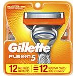 Gillette Fusion Razor Refill Cartridges- 12 ea