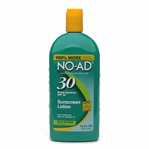 NO-AD Sunscreen Lotion, SPF 30