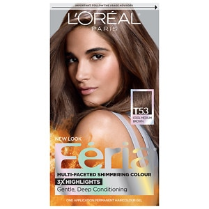 L'Oreal Paris Feria Permanent Haircolor, Cool Medium Brown T53, 1 ea