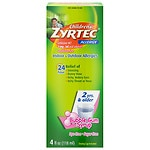 Children's Zyrtec Allergy Syrup, Sugar Free, Bubble Gum- 4 oz