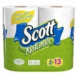 Scott Naturals Bath Tissue, Mega Roll