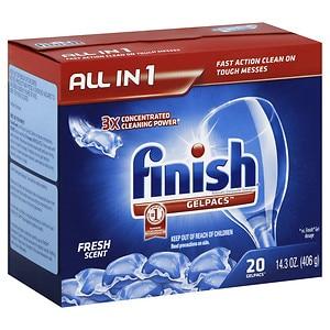 Finish Gelpacs Dishwasher Detergent, Fresh