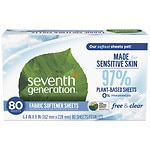 Seventh Generation Natural Fabric Softener Sheets, Free & Clear