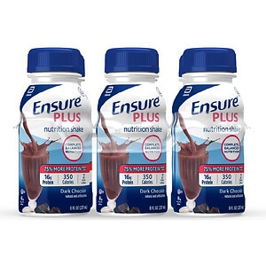 Ensure Plus Nutrition Shake, 8 fl oz, Rich Dark Chocolate