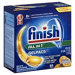 Finish Gelpacs Dishwasher Detergent, Orange- 60 ea