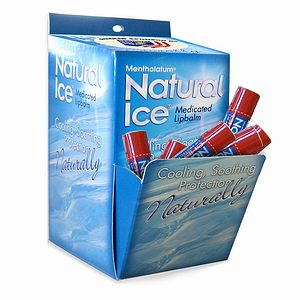 Natural Ice Medicated Lip Protectant/Sunscreen SPF 15, Multi-Pack, Cherry- 48 ea