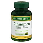 Nature's Bounty High Potency Cinnamon 2000 Plus Chromium Dietary Supplement Capsules