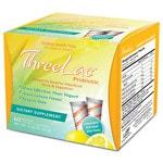 Global Health Trax ThreeLac Probiotic Dietary Supplement, Lemon