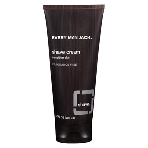 Every Man Jack Shave Cream, Sensitive Skin, Fragrance Free