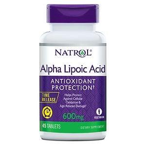Natrol Alpha Lipoic Acid TR, Time Release, 600mg, Tablets