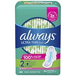 Always Ultra Thin Active Pads with Flexi-Wings, Clean Scent- 40 ea