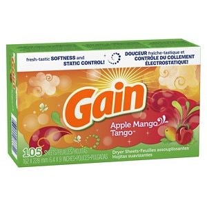 Gain Dryer Sheets, Apple Mango Tango- 105 ea