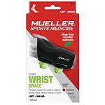 Mueller Green Fitted Wrist Brace, Maximum Support, Left, S/M