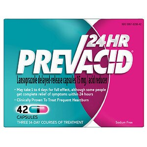 Prevacid24HR Acid Reducer, Delayed-Release Capsules- 42 ea
