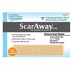 ScarAway 1.5in X 7in Fabric-Backed Silicone Scar Sheets- 12 ea