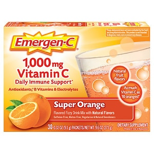Emergen-C 1000 mg Vitamin C, 30 pk, Orange- .31 oz