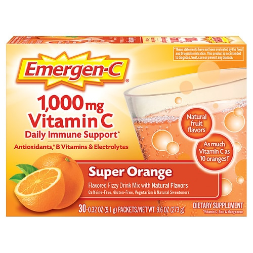 Emergen-C 1000 mg Vitamin C, Super Orange - 30 packets