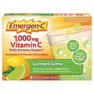 Emergen-C 1000 mg Vitamin C, Lemon Lime- 30 ea