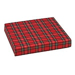 Mabis Standard Polyfoam Wheelchair Cushion, Plaid