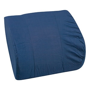 Mabis Lumbar Memory Cushion with Strap, Navy