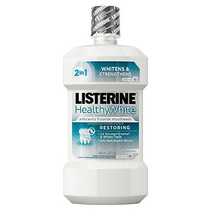 LISTERINE Whitening Plus Restoring Fluoride Rinse, Clean Mint