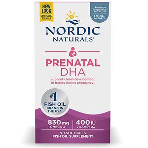Nordic Naturals Prenatal DHA 500mg Fish Oil- 90 soft gels