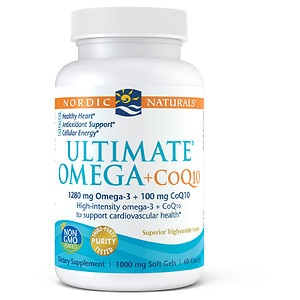 Nordic Naturals Ultimate Omega + CoQ10 Purified Fish Oil 1000 mg Soft Gels