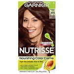 Garnier Nutrisse Nourishing Color Creme with Fruit Oil Concentrate, Soft Mahogany Dark Brown 415