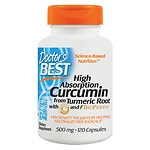 Doctor's Best Curcumin C3 Complex, 500mg, Capsules