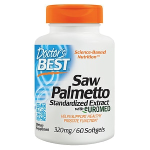 Doctor's Best Saw Palmetto Standardized Extract, 320mg, Softgels- 60 ea
