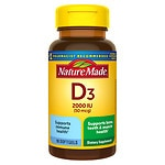 Nature Made Vitamin D, 2000 IU, Liquid Softgels