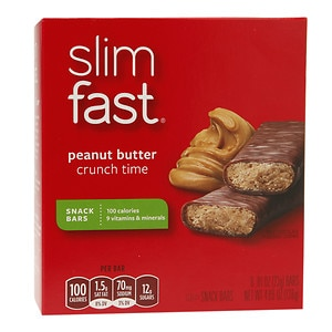 Slim-Fast 3-2-1 Plan 100 Calorie Snack Bars 6-Pack, Peanut Butter