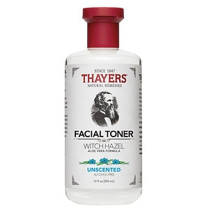 Thayers Alcohol-Free Witch Hazel with Organic Aloe Vera Formula Toner, Unscented
