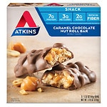 Atkins Advantage Snack Bars, Caramel Chocolate Nut Roll- 5 ea