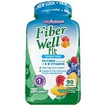 Vitafusion Fiber Well Fit Gummies, Peach, Strawberry & Berry- 90 ea