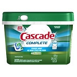 Cascade Complete ActionPacs Dishwasher Detergent, Fresh- 46 ea
