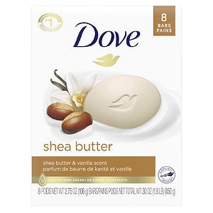 Dove Purely Pampering Beauty Bar, Shea Butter, 4 oz- 8 ea