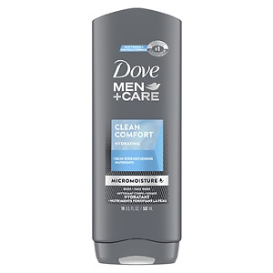Dove Men+Care Body and Face Wash, Clean Comfort- 18 fl oz