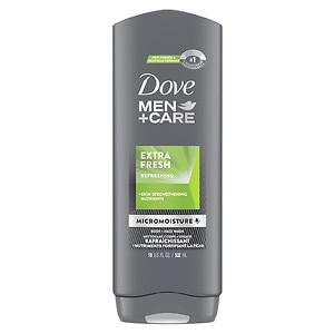 Dove Men+Care Body and Face Wash, Extra Fresh- 18 fl oz