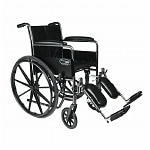 Everest & Jennings Traveler SE Steel Wheelchair Fixed Full Arms Elevating Footrest 18
