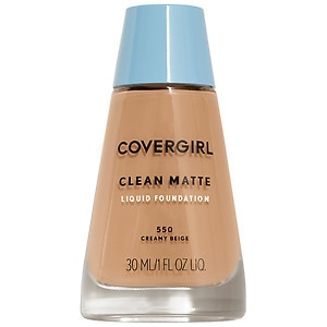 CoverGirl Clean Oil Control Liquid Makeup, Creamy Beige 550- 1 fl oz