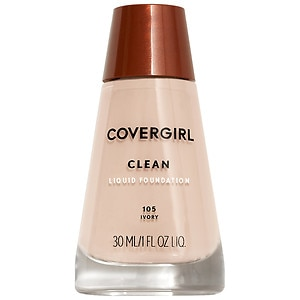CoverGirl Clean Liquid Foundation for Normal Skin, Ivory 105, 1 oz