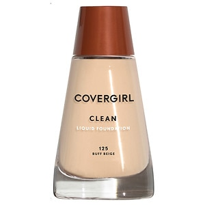 CoverGirl Clean Liquid Foundation for Normal Skin, Buff Beige 125