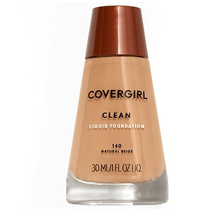 CoverGirl Clean Liquid Foundation for Normal Skin, Natural Beige 140, 1 fl oz